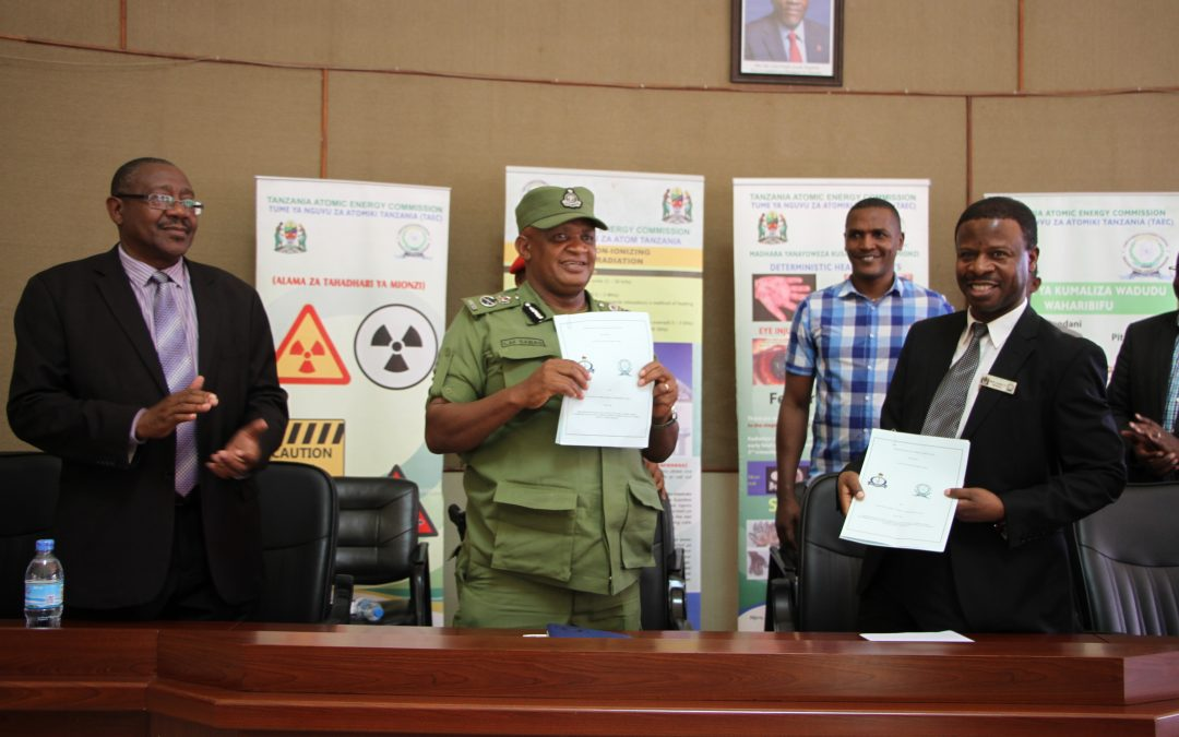 TAEC and Tanzania Police Force have Signed an Agreement to Strengthen the Protection and Safety of Radioactive Sources